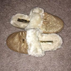 Gold Michael Kors slippers